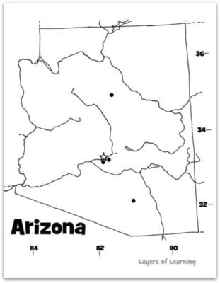 Arizona map web