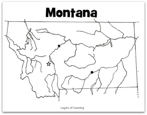 Montana map web