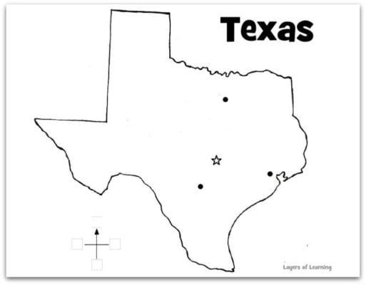 texas regions coloring pages - photo#10