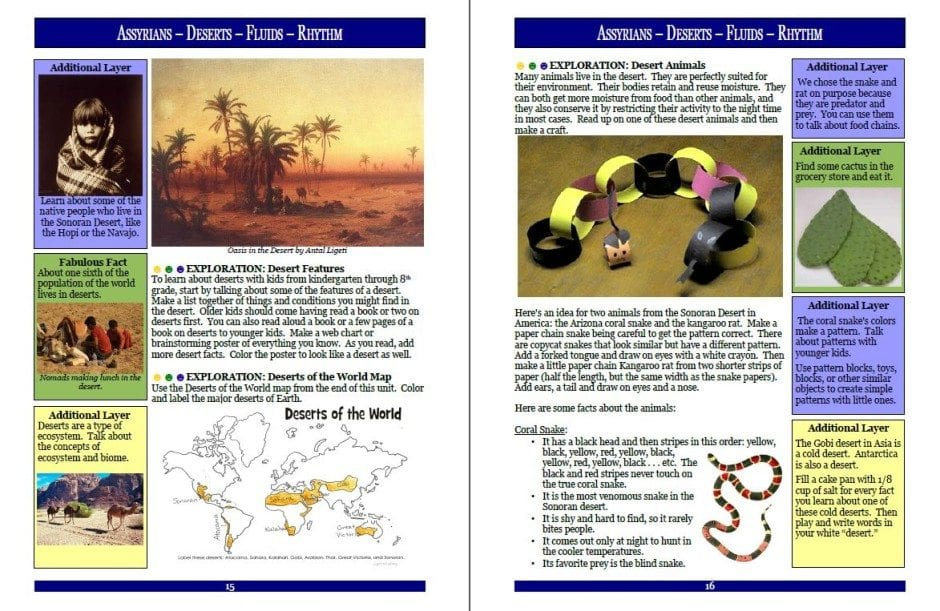 Unit 1-8 Sample Page Layers of Learning Homeschool Curriculum