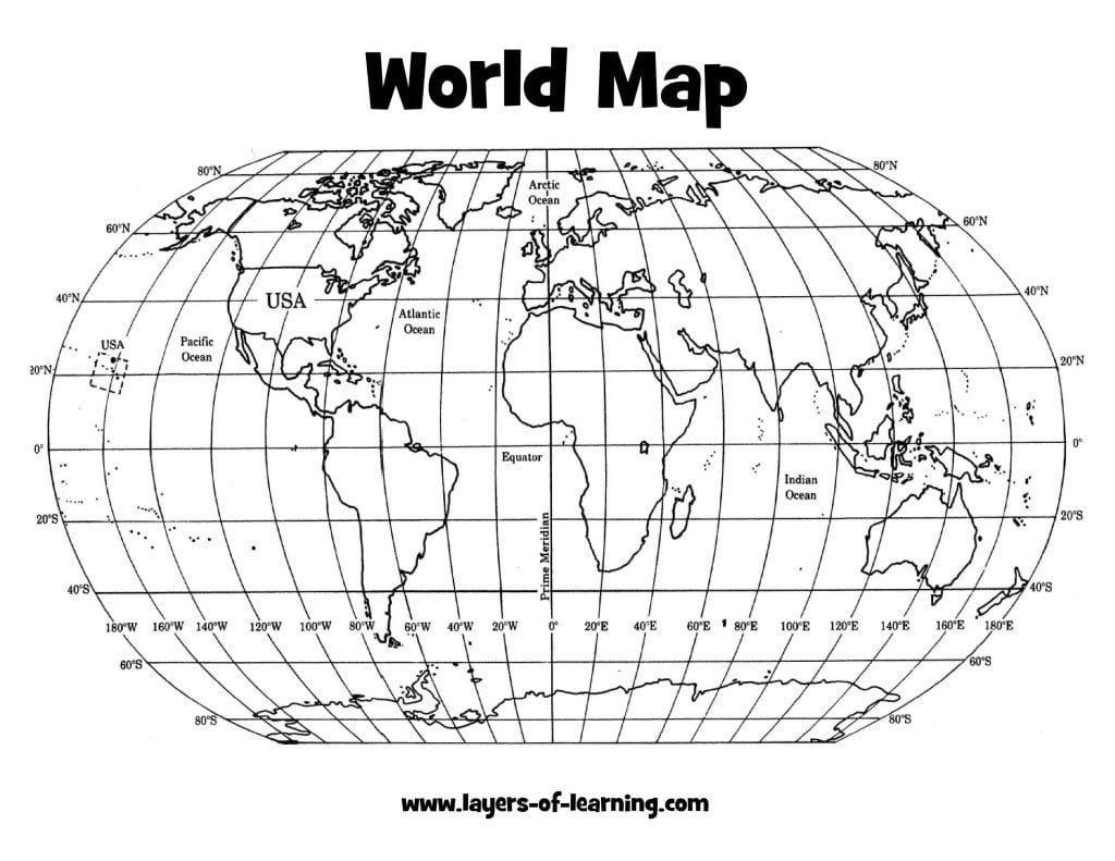 Pics Photos - World Map With Coordinates
