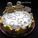 Astronaut Birthday cake {easy}