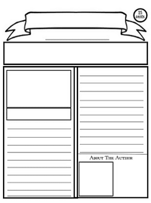 Newspaper Writing Template