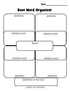 Root Word Organizer