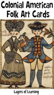 colonial folk art cards
