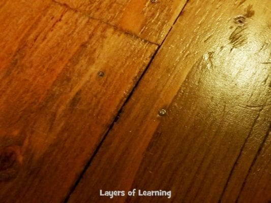nail holes in plywood floor